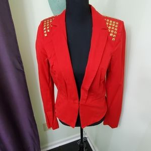 Red & gold studded jacket